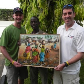 DAY SIX - a farewell to Masaka (with some gifts from a local artist/new cricket coach)